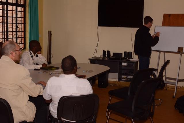 Doug lecturing on the pediatric neurologic examination