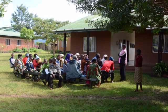 Waiting to be seen at Rift Valley Children's Village