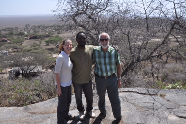 Danielle, Abuu and me atop Naabi Hill