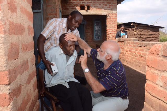 Examining our Parkinson patient