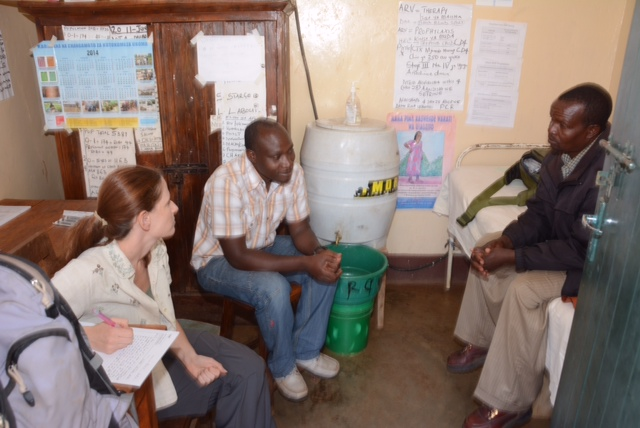Danielle and Dr. Isaac evaluating a patient in Upper Kitete