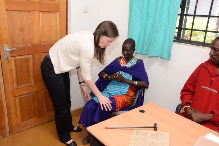 Christyn evaluating a young Maasai women with epilepsy