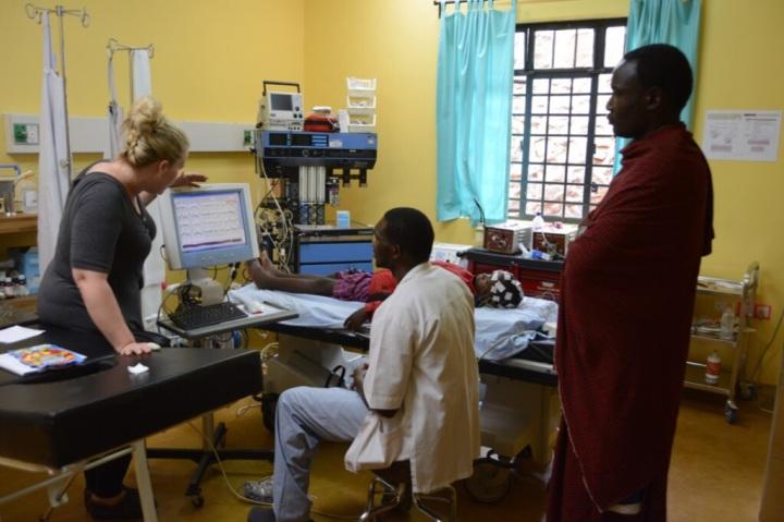 Cara Teaching Nurse Daniel How to Perform EEGs