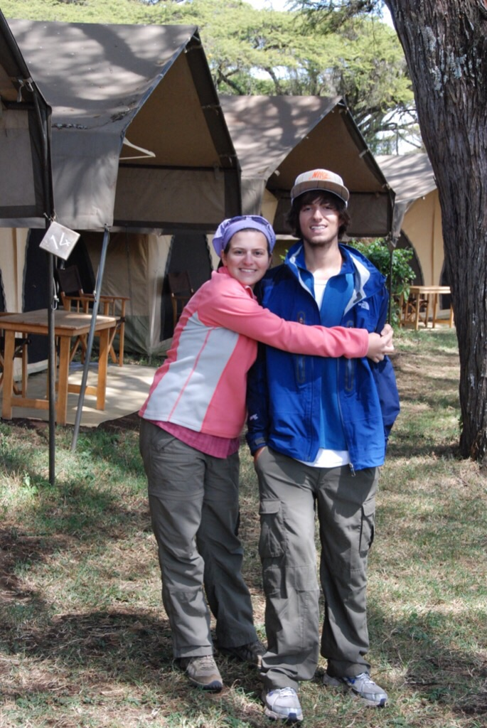Anna and Daniel at Ngorongoro Crater Camp, 2009