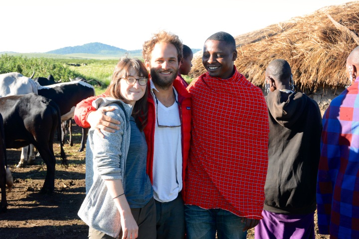 Jess, Nick and Sokoine at his father's boma