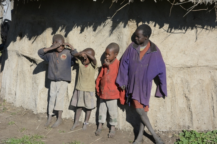 Some children of the boma