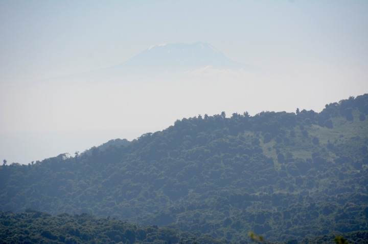 A rare view of Kilimanjaro from a distance