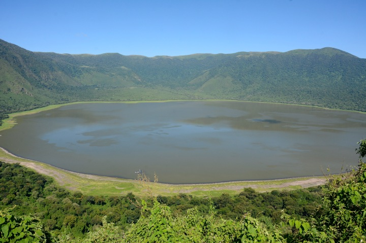 Empakai Crater and Lake from the rim