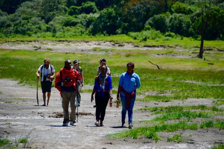 Walking the Empakai lakeshore