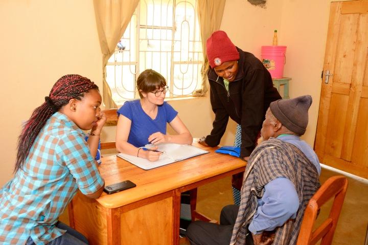 Jess and Angel getting a history having to use an Iraqw translator to Swahili