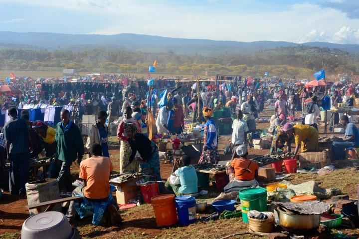 A view of the Maasai market
