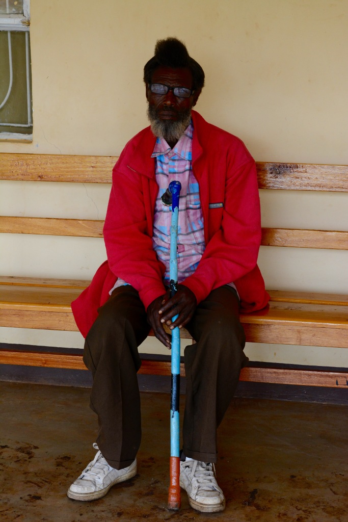 A patient waiting for clinic