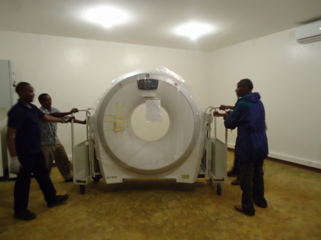 Positioning the CT scanner