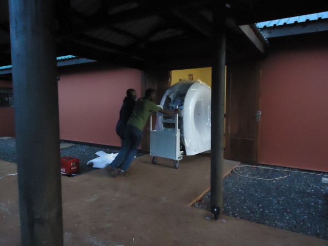 Moving the CT into the radiology suite