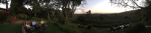 A nice panorama from the veranda