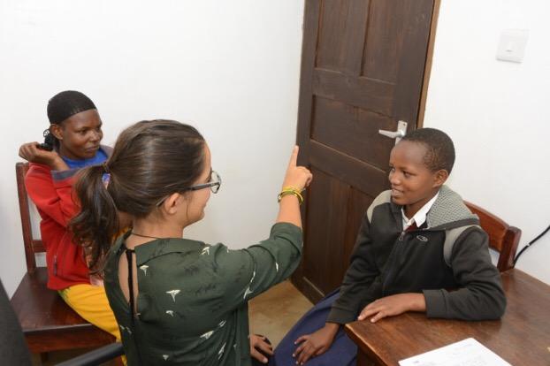 Dr. Laurita evaluating a patient