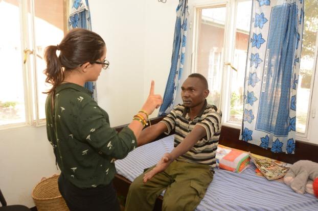 Dr. Laurita evaluating a non-compliant seizure patient