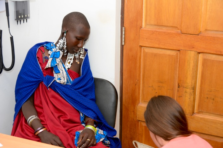 Examining our young Maasai woman with epilepsy