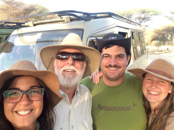 Laura, Me, Alex and Kelley - a selfie after our safari