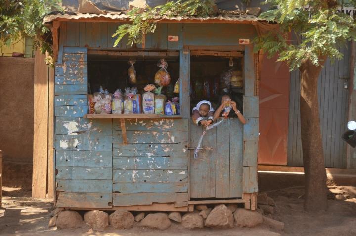 A typical shop in Karatu