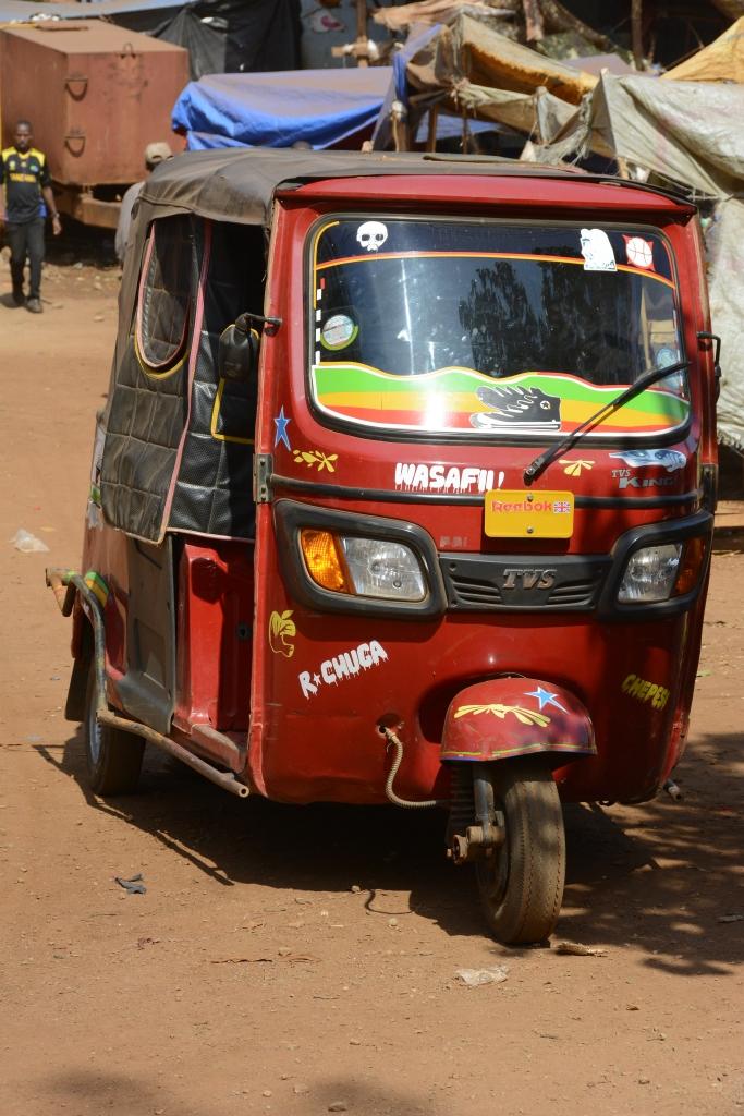 A Bijaji in Karatu - a three wheeled taxi