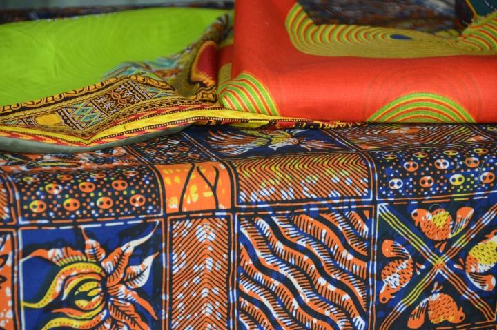 The colorful fabrics of Tanzania