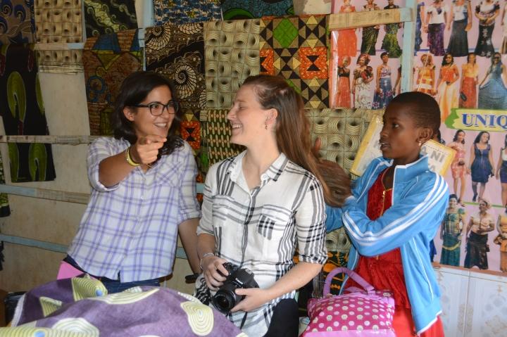 Laura, Kelley and Renata enjoying shopping at Witnes'