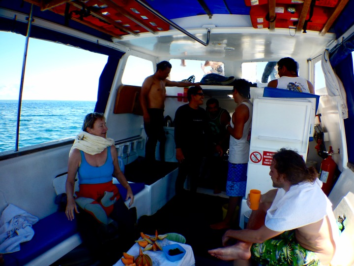 Our dive boat and fellow divers