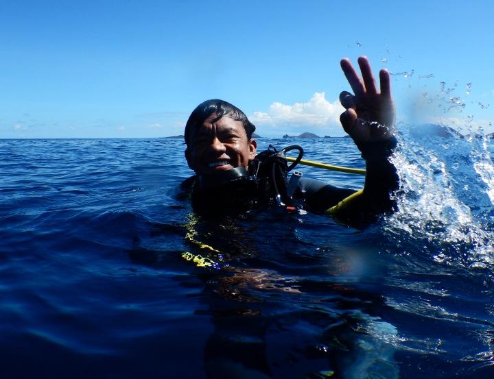Quike Moran, dive master