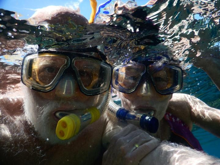 An underwater selfie