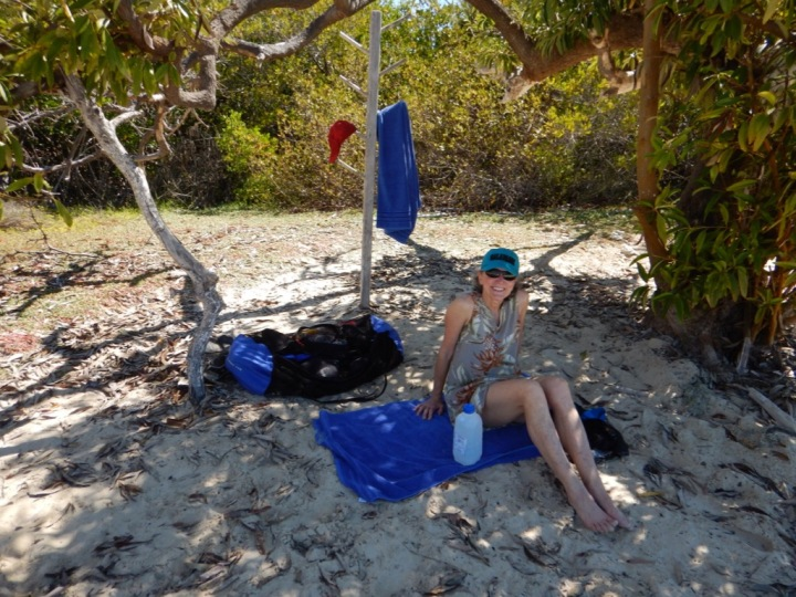 Our perfect spot along the mangrove bay