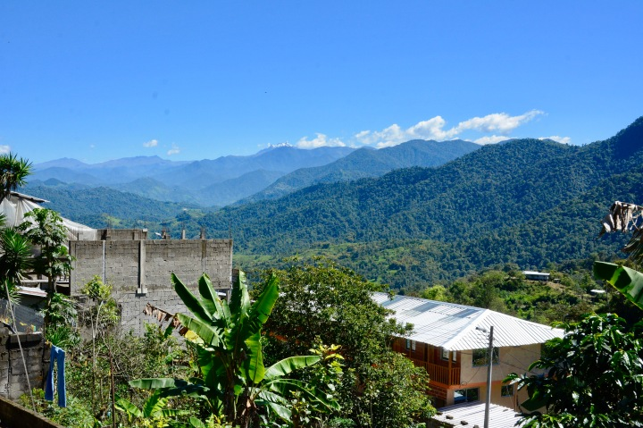 A scenic view of Pululahua Biobotanical Reserve